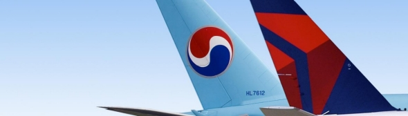 Delta and Korean Air Tails
