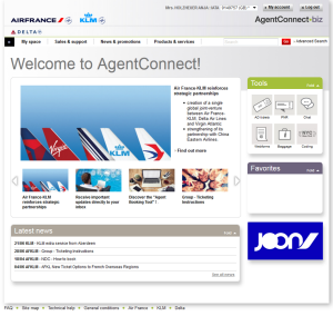 Home page AgentConnect