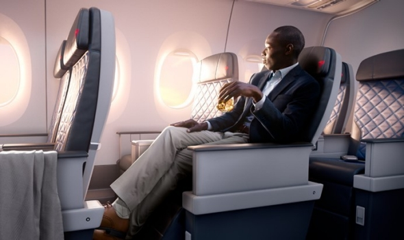 Man sitting in Delta Premium Select