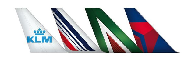 Delta, Air France, KLM, Alitalia Tail Fins