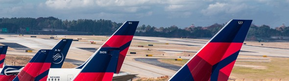 Delta Air Lines aircraft tails